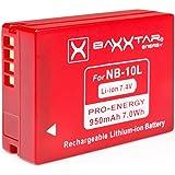 """Bundlestar * BAXXTAR PRO ENERGY Qualitätsakku für Canon NB-10L voll dekodiert für -- Canon PowerShot SX60 SX50 HS SX40 HS G15 G16 G1 x -- Intelligentes Akkusystem - 100% kompatibel """"neueste Generation"""" (mit Transportschutzkappe!)"""
