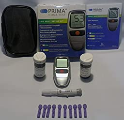 PRIMA Cholesterol and Triglycerides 2 in 1 Home Test/Meter Kit Monitoring System FDA Approved!!!