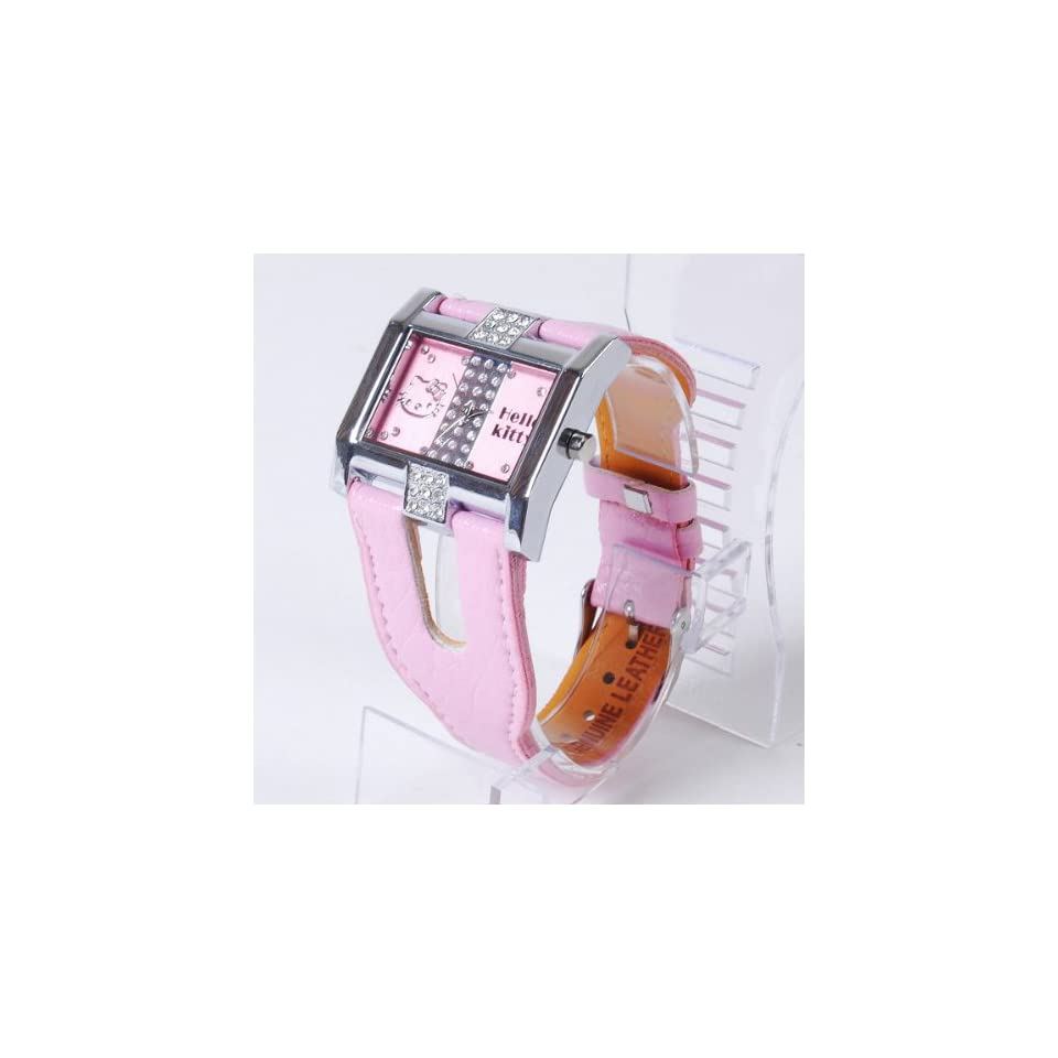 Hello Kitty Diamante Wrist Watch Band Wristwatch