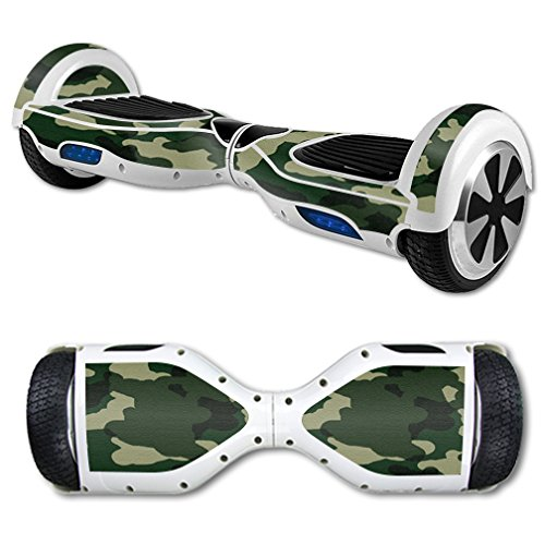 MightySkins Protective Vinyl Skin Decal for Hoverboard Self Balancing Scooter mini hover 2 wheel unicycle wrap cover sticker Green Camo
