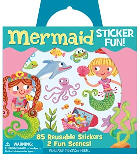 Peaceable Kingdom Sticker Fun! Mermaid Reusable Sticker Tote