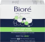Biore Daily Cleansing Cloth, 60 Count