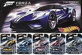 Hot Wheels 2016 FORZA Motorsport Retro Entertainment Series Box Premium Set - Lamborghini Gallardo / '17 Ford GT / Alfa Romeo Sprint GTA / Ford Falcon / Camaro ZL1 Real Riders