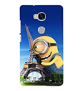 Vizagbeats minion hugging eiffel tower Back Case Cover for Huawei Honor 5X