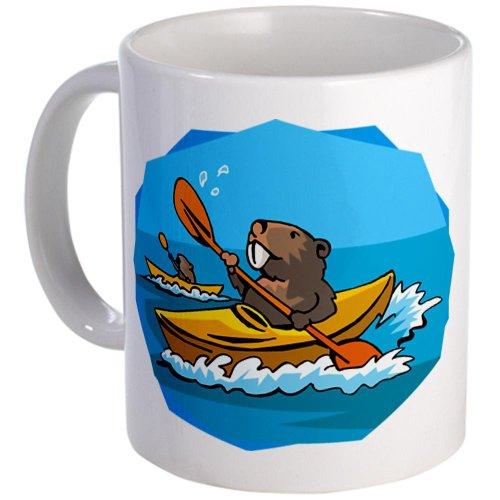 Kayak Beaver Mug - Unique Coffee Mug, 11oz