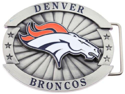Officially Licensed Oversize Denver Broncos NFL Logo Belt Buckle
