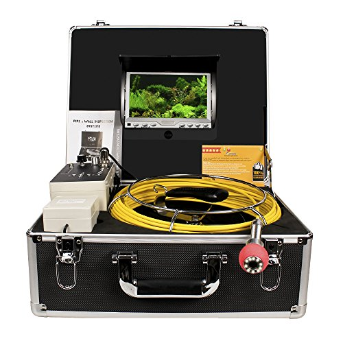 Pipe Sewer Inspection Camera Anysun Waterproof IP68 50m Drain Industrial Endoscope Video Inspection System 7 Inch LCD Monitor 1000TVL Sony CCD DVR Recorder Video Snake Camera(4GB TF Card Include) (Robotic Infrared Video Cameras compare prices)