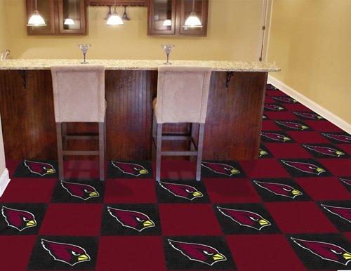 """Arizona Cardinals NFL Carpet 18""""x18"""" Tiles"""