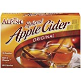Alpine, Spiced Cider, Apple Flavored Drink Mix, 10 Count, 7.4oz Box (Pack of 3)