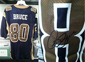 Isaac Bruce St. Louis Rams Autographed Replica Jersey (Damaged - Discounted Price)
