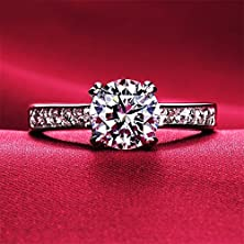 buy Gorgeous Sparkling 18K White Gold Plated Aaa Zircon Swarovski Crystal Austria Crystal Rhinestone Ring Wedding Engagement Bridal Ring Mother'S Day Gift R7 (9)