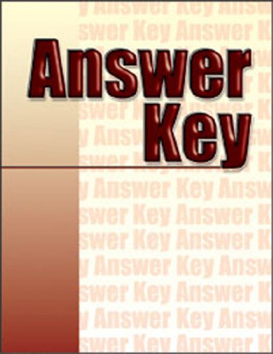 Printreading for Welders - Answer Key - Amer Technical Pub - AT-3052 - ISBN: 0826930522 - ISBN-13: 9780826930521
