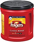 Folgers Coffee Ground Classic Roast, 33.9-Ounce Packages (Pack of 2)