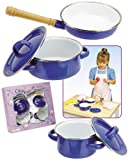 Children's Enamel Pot &amp; Pan Cooking Set: 5 Pc. Gift Set *Perfect Gift Idea*