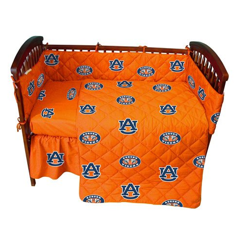 Auburn Baby Crib Fitted Sheet - Solid - Auburn Tigers front-1003845