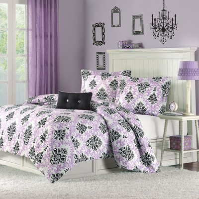 Damask Print Bedding 5969 back