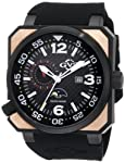 GV2 by Gevril Men's 4511 XO Submarine Rose Gold PVD Black Dial Watch from GV2 by Gevril