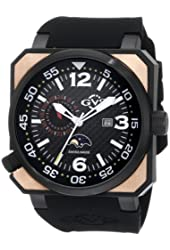 GV2 by Gevril Men's 4511 XO Submarine Rose Gold PVD Black Dial Watch