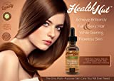 Health Nut 100% Organic Moroccan Argan Oil for Skin and Hair - All Natural Beauty Product for Daily Use - Bottle with Dropper 4 fl oz