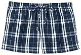 District Womens Elastic Drawcord Flannel Plaid Boxer