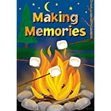 Campfire Night Summer House Flag Camping Marshmallow Enjoy Mini Banner 12