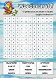 Oiseaux Wordsearch Par Sarah Edwards Format A4...