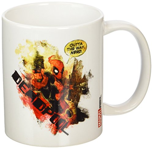 Deadpool Nerd-Tazza in ceramica, multicolore