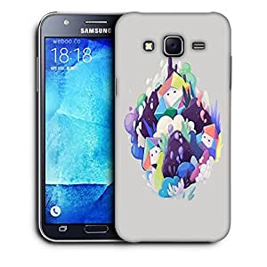 Snoogg Snow Man Designer Protective Back Case Cover For SAMSUNG GALAXY J7
