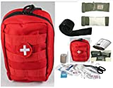 VAS-TACTICAL-TRAUMA-FIRST-AID-KIT-2-PLUS-ISRAELI-BANDAGE-UNIVERSAL-SAM-TYPE-SPLINT-RED-MOLLE-BAG