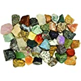 Fantasia Materials: 3 lbs (BEST VALUE) of Exclusive Premium ASIA Stone Mix - Raw Natural High Quality Crystals & Rocks for Cabbing, Cutting, Lapidary, Tumbling, Polishing, Wire Wrapping, Wicca & Reiki