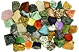 Fantasia Materials: 1 Pound of Exclusive Premium ASIA Stone Mix - Bloodstone, Ruby, Black Tourmaline, Moonstone, Rutile, Sunstone, Amethyst, Serpentine, Imperial-Z, Apatite, Aventurine, Jaspers, Volcano Stone and Many MORE!!! - Bulk Rough Raw Natural Crystals for Cabbing, Cutting, Lapidary, Tumbling, Polishing, Wire Wrapping, Wicca and Reiki Crystal Healing *Wholesale Lot*