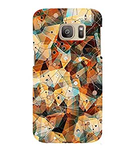 GADGET LOOKS PRINTED BACK COVER FOR SAMSUNG GALAXY S7 MULTICOLOR