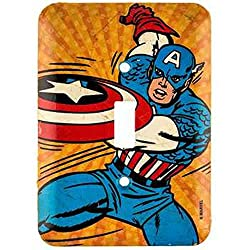 Marvel Comics Vintage Captain America Wall Light Switch Cover