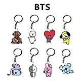 Bosunshine Cartoon Keychain Key Ring Hot Gift for Fans (BTS BT21 Keychain)