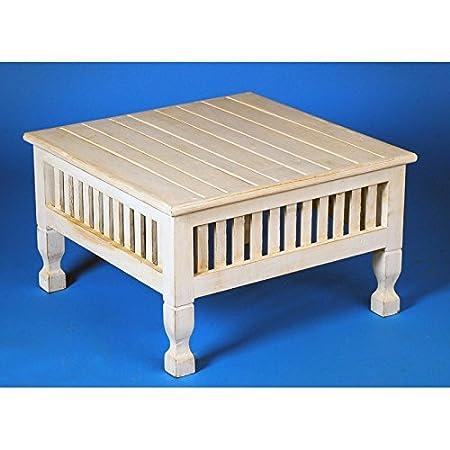 Mesa de centro cuadrada de madera de abasía