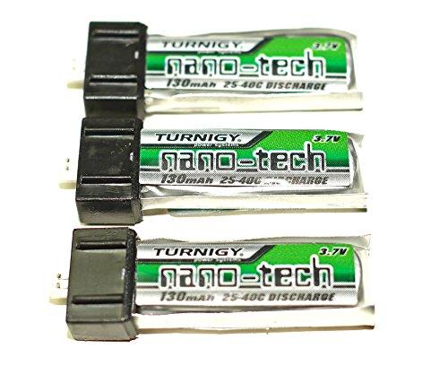 Turnigy-nano-tech-130mAh-Lipo-Akku-1S-37V-25C-40C-fr-Blade-MSR-MCX-Nano-CPX-Kyosho-Eflite-Parkzone-uvm-whlen-Sie-Ihre-Menge-von-Modellbau-Eibl-3-Stck