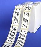 Präge-Etiketten mit schwarzer Schrift
