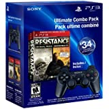 PS3 Resistance 1 and 2 Dual Pack and DualShock 3 - Black - Standard Edition