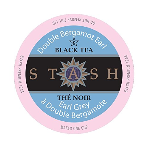 Stash Tea Double Earl Grey Single-Cup Tea for Keurig K-Cup Brewers, 40 Count (Earl Tea Keurig compare prices)