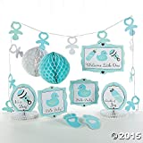 10 pc Baby Boy Blue Shower Party Decorating Kit
