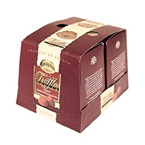 Chocmod Truffettes de France Natural Truffles, Plain, 1000-Gram Boxes (Pack of 2)