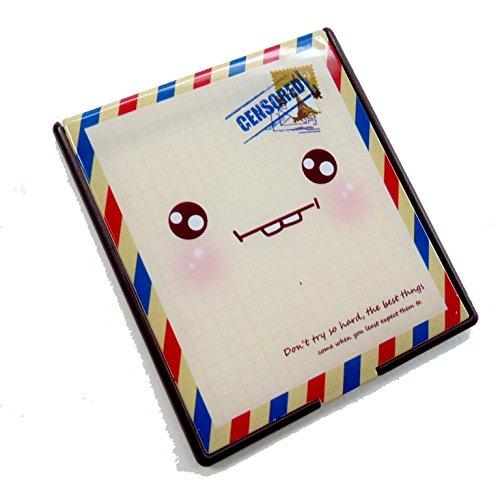 二つ折りファンシーコンパクトミラー 顔 封筒 CMー502