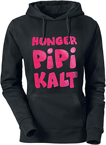 Hunger,Pipi, Kalt! Girl-Kapuzenpulli schwarz L