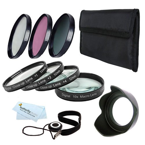77Mm Macro Kit Includes: 4Pc. Close-Up Macro Filters + 3Pc. Filter Kit (Uv, Cpl, Fld) For Nikon Df, D7100, D7000 D5300 D5200 D5100 D3200 D3100 D800 D700 D600 D610 D300S D90 Canon Eos 5D Mark Iii, Eos-1D X, 6D, 7D, 7D Mark Ii, 60D 70D T5I T4I Sl1 T3I Eos M