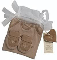 Organic Cotton Baby Gift Set (Nb-3m, Chestnut & Wheat)