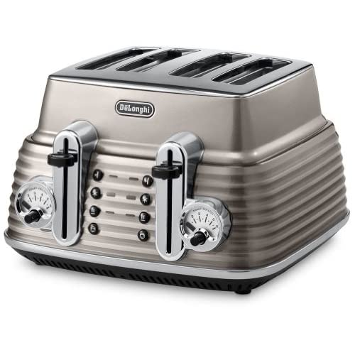 Delonghi Toaster Scultura, 1800 W, Champagne - CTZ4003.BG