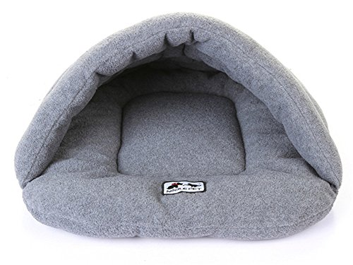 Zonepets Small / Medium / Large Dog Cat Bed House Mat Cushion Pet Cave Sleeping Bags (L: 13-22lb, Grey)