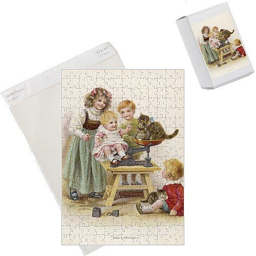 Photo Jigsaw Puzzle of Weighing Baby And Cats from Mary Evans