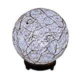 Salebrations Ball Table Lamp Shades Yarn With Banana Fiber And Wooden Base