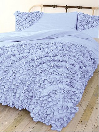 600 Tc 3 Pc Corner Ruffle Duvet Set In King Solid Sky Blue By Jay'S Home Goods front-1021734
